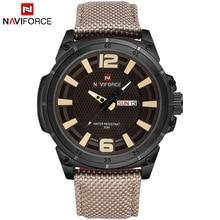 Naviforce marca de lujo de los hombres de moda casual relojes para hombre de cuarzo fecha reloj de cuero hombre reloj impermeable relogio masculino
