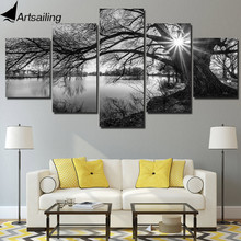 HD printed 5 piece canvas art rock music band Fink Floyd Paintings living room decor posters and prints free shipping ny-6500