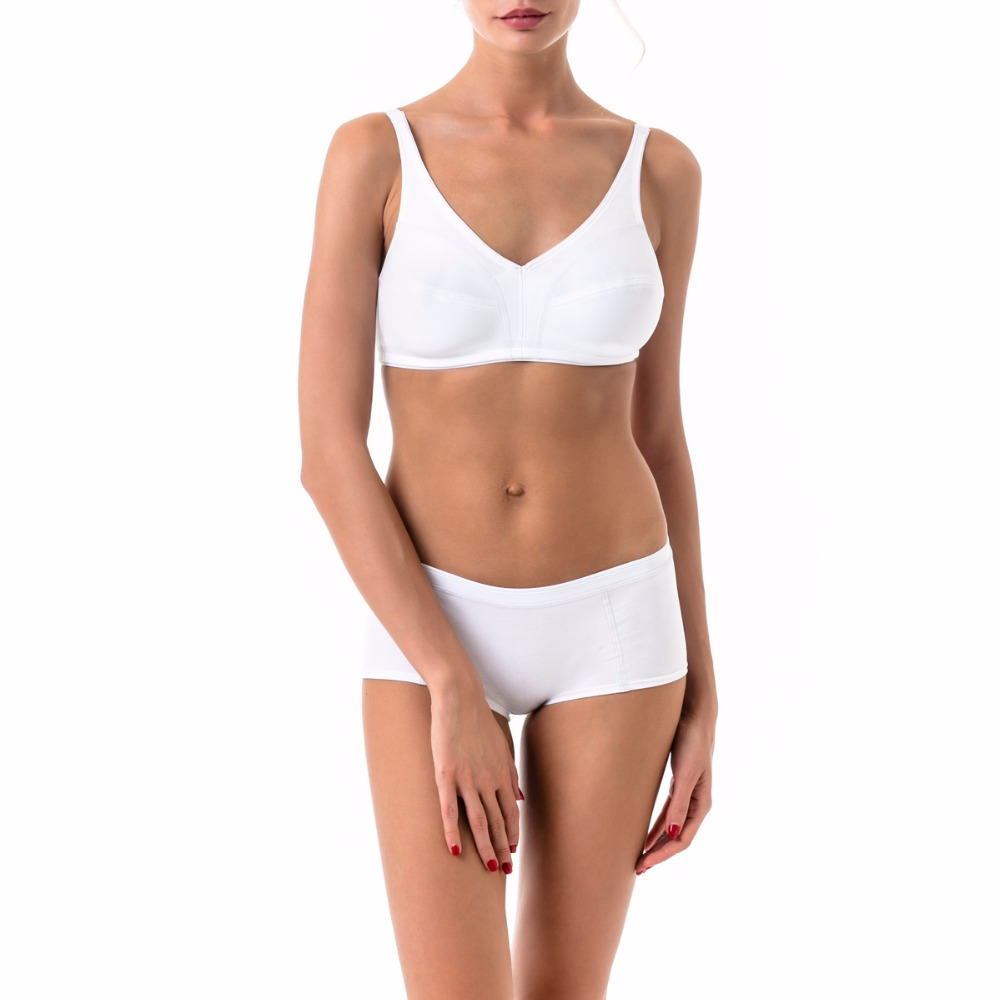 e5357acf11 ARDI Female Wireless Bra and Briefs Set with Soft Cup Wire Free Big Size  for Large Breast Cotton White Black R2708-in Bra   Brief Sets from  Underwear ...