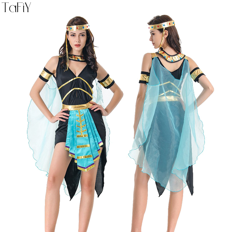 Aliexpress.com : Buy TaFiY 2018 Halloween Costumes Ancient Egyptian Cleopatra Queen Costume Cosplay Clothing Fancy Dress For Women Performance ...