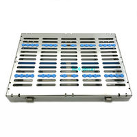 Dental Sterilization Cassette Rack Tray Box for 20 Surgical Instruments Sale!!