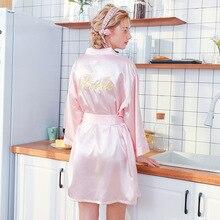 Белый женский летний короткий халат банное платье невесты свадебное кимоно юката Ночная рубашка женские пижамы Ночная рубашка M-XXL