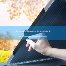 Car Windshield Sun Visor Retractable Shading Front Curtain Sunshade Sunscreen Insulation Automatic