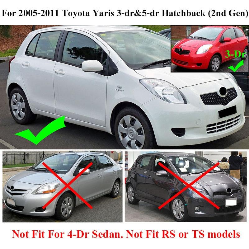 Para Toyota Yaris Hatchback Vitz Escotilha 2005 2011 Daihatsu Charade  Mudflaps Splash Guardas Mudguards 2006 2007 2008 2010 Lama Abas Em  Mudguards De ...