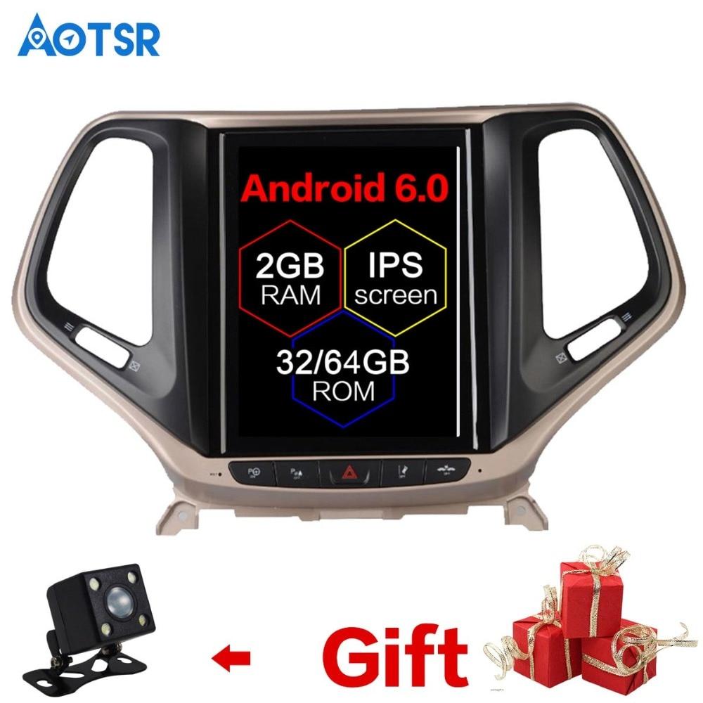 Android 6.0 Tesla style Car DVD Player GPS Navigation For JEEP Cherokee 2014-2018 Auto nav