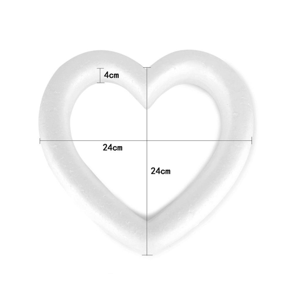 Image 4 - إكليل من الفوم البوليسترين على شكل قلب جديد أبيض لحفلات الزفاف اليدوية ذاتية الصنع قلب حب مستدير اختياريزخارف حفلات DIY   -