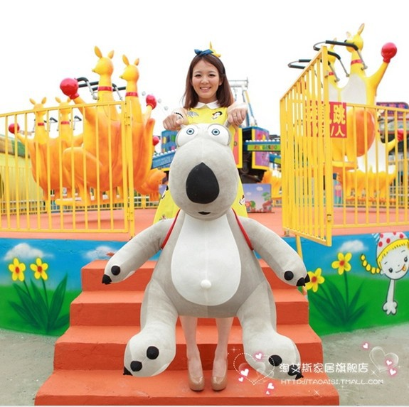 stuffed animal Backkom bear  plush toy 140 cm gray  bear doll about 55 inch toy p0960 stuffed animal 44 cm plush standing cow toy simulation dairy cattle doll great gift w501