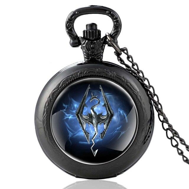 Кварцевые карманные часы  Skyrim -
