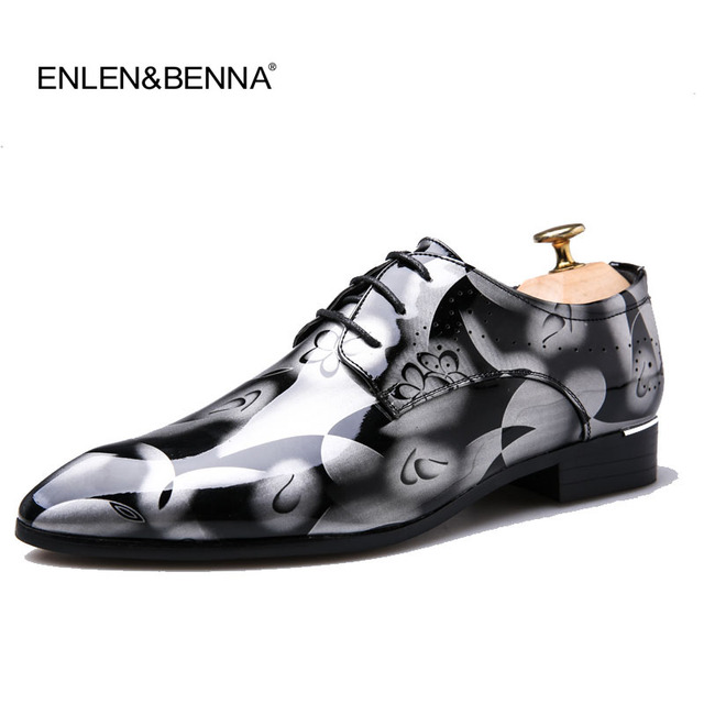 3ae153d73d9fad 2018 Patent Leather Oxford Shoes For Men Dress Shoes Men Formal Shoes  Pointed Toe Formal Business Wedding Shoes Plus Size 49 50