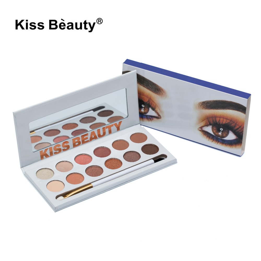 Fashion Brand Eyeshadow Palette 12Colors Matte Naked Palette Glitter Eye Shadow -8839