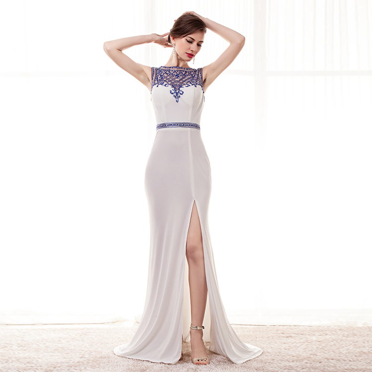 Long white dress semi formal