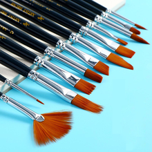 12Pcs Professional Watercolor Paint Brush Oil For Drawing Art Supplies