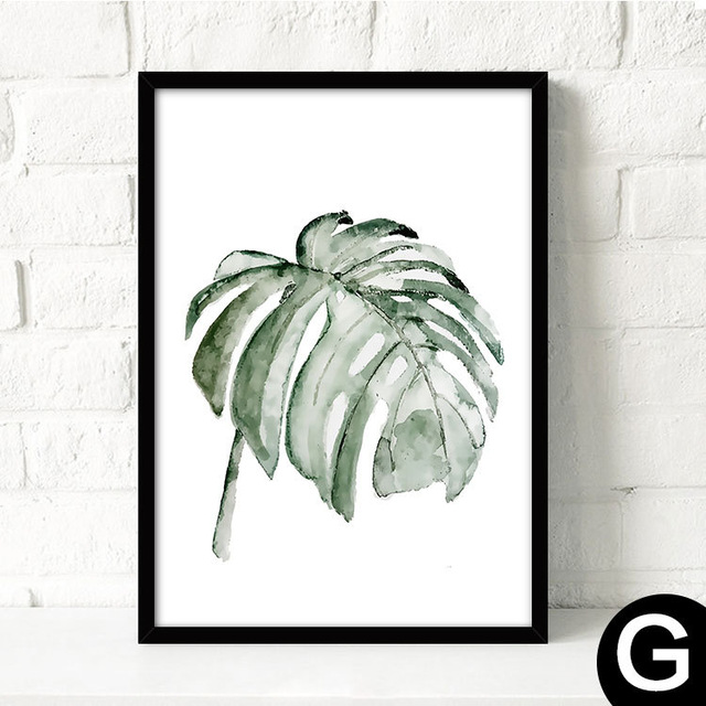 Watercolor-Tropical-Plant-leaves-Canvas-Art-Print-Poster-Nordic-Green-Plant-leaf-rural-Wall-Pictures-for.jpg_640x640 (1)