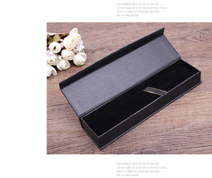 Image 4 - 10pcs/set Korea selling gift box creative school office stationery gift pen box black business pen box