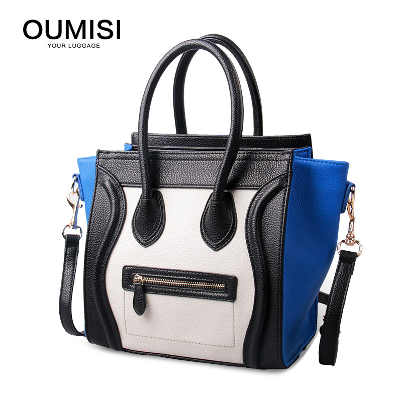 OUMISI High Quality PU Leather Women Top-handle Bag Small Women Messenger Bag Girls Shoulder Bag Fashion Women Bags PB fashion pu leather metal handle circular bag small round package shoulder bag girls crossbody tote messenger bags