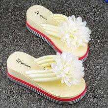 дешево!  Модные женские тапочки женские с бантами на плоской подошве сандалии тапочки сплошной цвет жемчужна