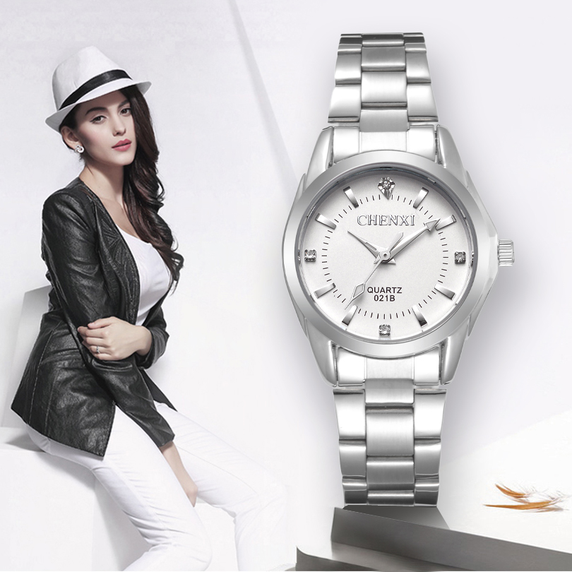 CHENXI Lady Rhinestone Fashion Watch Women Quartz Watch Women's Wrist watches Female Dress Clock xfcs relogio feminino new yadan xfcs fashion black womens watches waterproof ladies quartz watch simple female wrist watch relogio masculino clock
