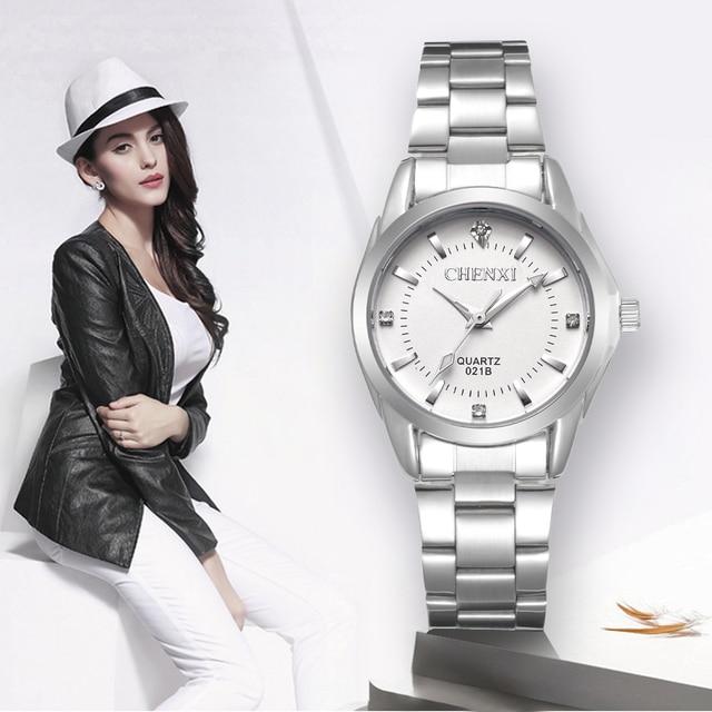 CHENXI Lady Rhinestone Fashion Watch Women Quartz Watch Women's Wrist watches Fe