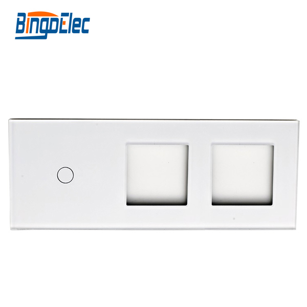 Toughened Glass 1g switch  panel and socket frame, glass only, no switch or socket function part,Hot sale scinder switched socket package 15 steel frame two or three five hole electrical outlet wall switch panel switch