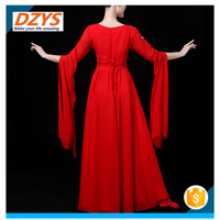 2018 new adult female big sleeves skirt dance dress