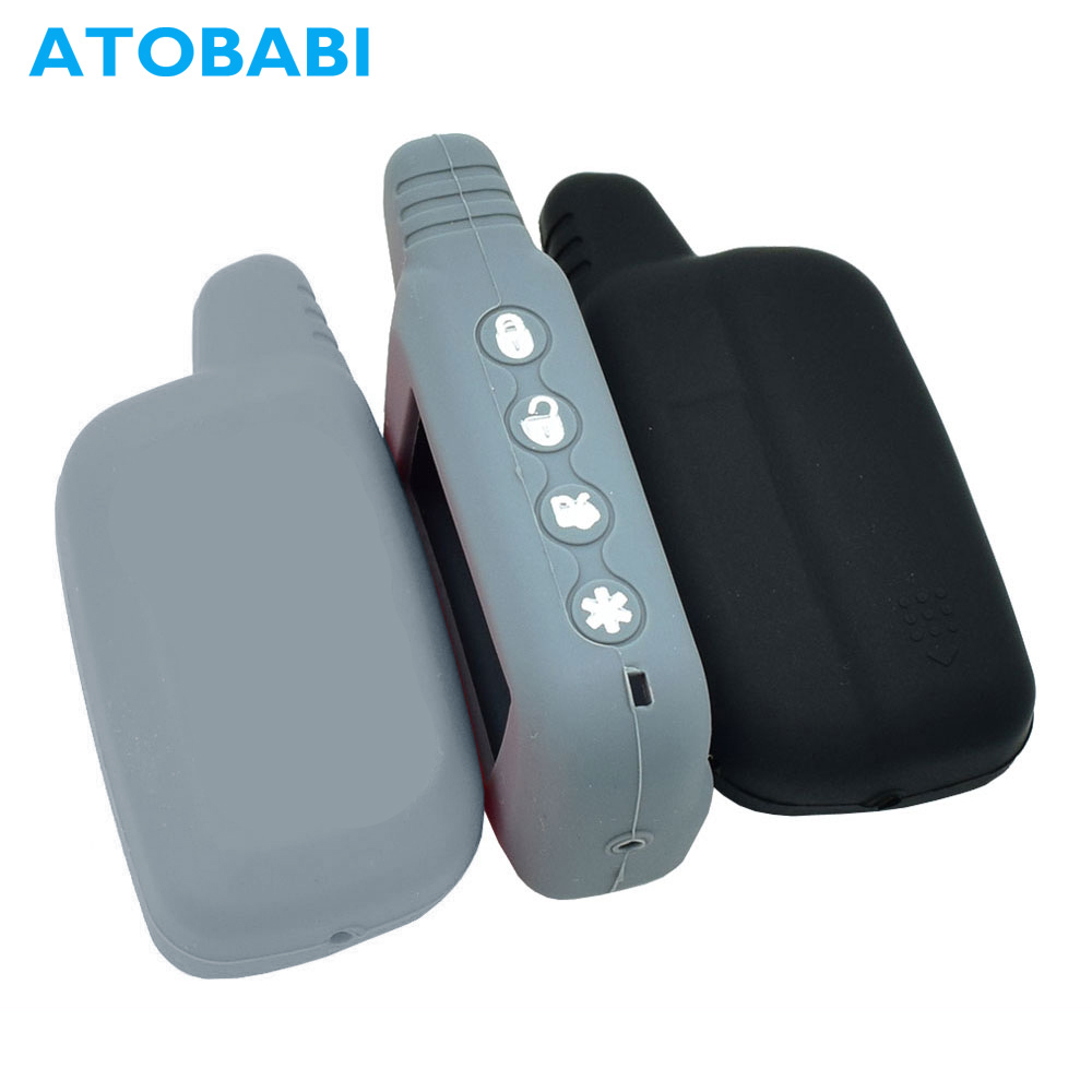 ATOBABI SLK-625 Silicone Key Case LCD Remote Cover for Pantera SLK-675RS SLK-868RS SLK-450SC SLK-650RS SLK-850RS Burglar System leather center console armrest cover lid fit for audi a4 b6 b7 2002 2003 2004 2005 2006 2007