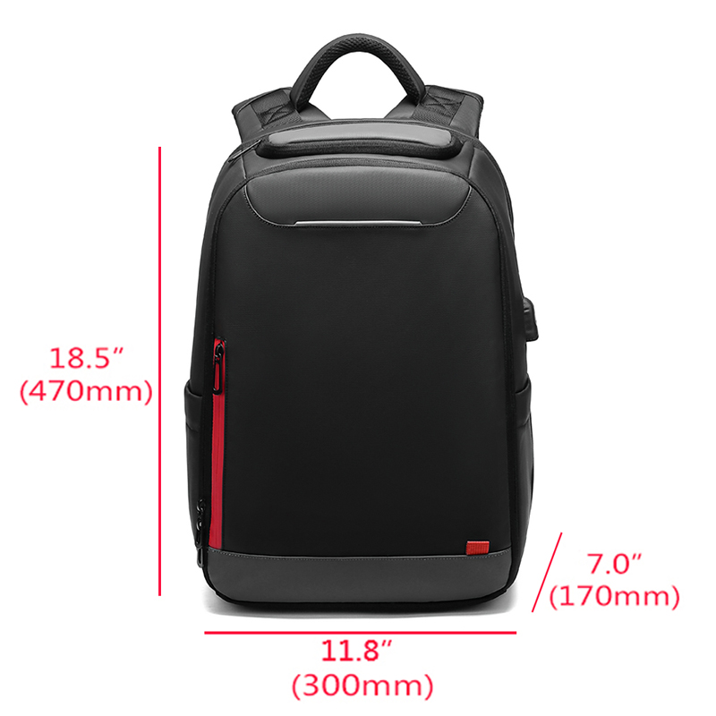 Nigeer 15.6 Inch Laptop Backpack For Teenage Fashion Male Mochila Water Repellent Leisure Travel Backpacks N0004 #2