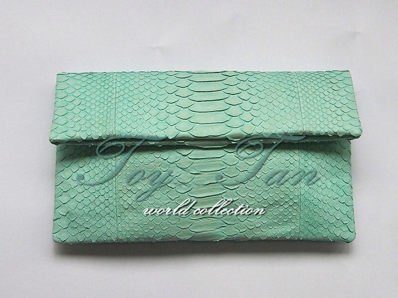 Luxus Damen 100% Echte Echtem Python Haut Kupplung Python Leder Clutch Abend Tasche Handtasche Damentaschen