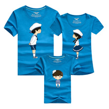 Cartoon Parent Child Shirts Gym Skate Clothing 2016 Men T-shirts Harajuku Sport T Shirt Homme Polera Kids Matching Family Set Uk