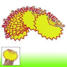 10 шт. магазинов новых печатных зубчатые края рекламы Поп ценники оранжевый желтый