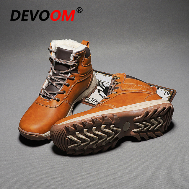 0e787f01ef7 US $33.15 40% OFF New Fashion Autumn Winter Men Boots Vintage Style Classic  Cotton Padded Men Shoes Casual High Cut Lace up Warm Ankle Boot Hombre-in  ...