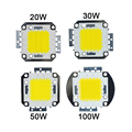 High Power LED Chip 10W 20W 30W 50W 100W COB LED Lamp Chip For Outdoor LED Flood Light Spotlight