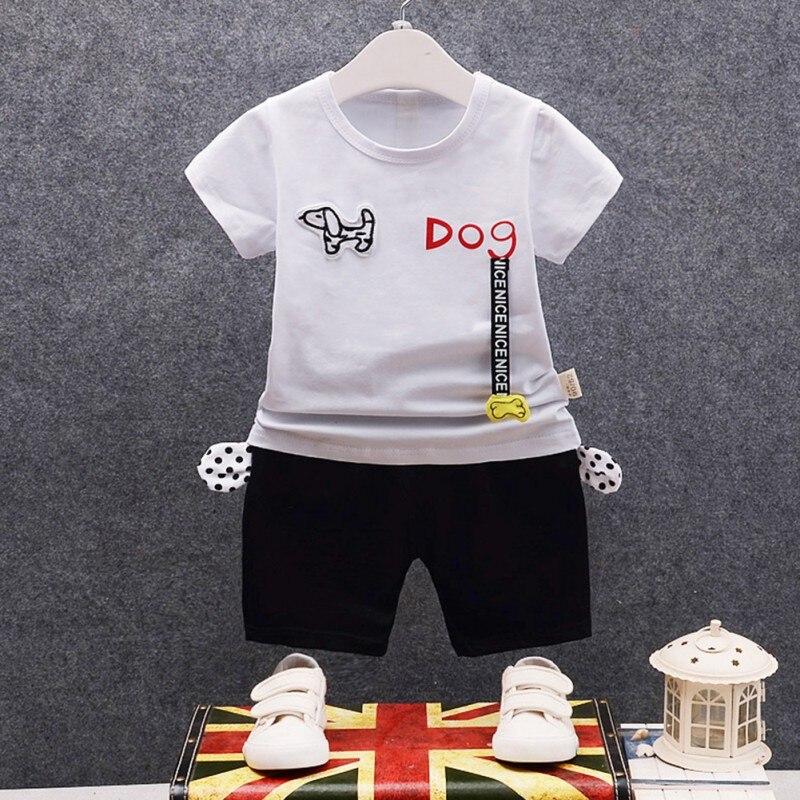 Baby Boy Clothes Set Summer Cotton Baby Clothing Suits Cute Letter Print Kids Clothes Set