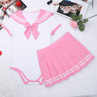 b5c4273493 ... per i bambini adulti pagliaccetto pannolini abdl. US $19.99. YiZYiF  Sexy Cosplay Diaper Lover ABDL Adult Baby Romper Women Skirt Suit  Schoolgirl Uniform ...