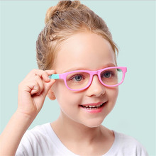 Солнцезащитные очки для детей, девочек и мальчиков, голубые световые блокирующие очки, ретро очки, Детские классические заклепки TR90, рамка, Оттенки UV400 Z470