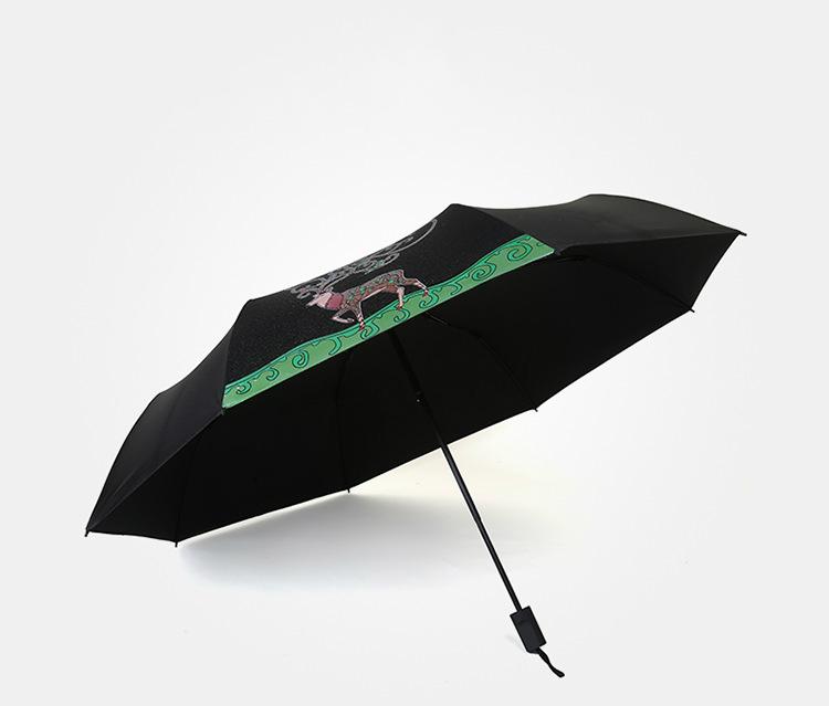 2017 New Creative Folding Umbrella Folding Color Changing Deer Rain  Umbrella Sun Shade Windproof Parasol Anti-UV - us417 b6c165e30ace