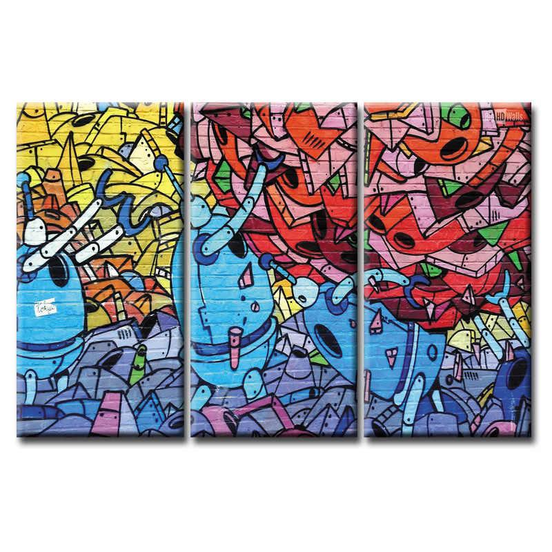 3 шт. холст картины граффити плакат серии настенные картины для гостиной печать картины Домашний декор холст в рамке