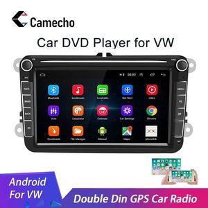 Camecho 2 Din Android 8.1 Car radio GPS Multimedia For Volkswagen Skoda Octavia golf 5 6 touran passat B6 polo tiguan jetta yeti(China)