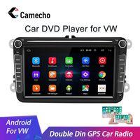 Camecho 2 Din Android 8.1 Car radio GPS Multimedia For Volkswagen Skoda Octavia golf 5 6 touran passat B6 polo tiguan jetta yeti