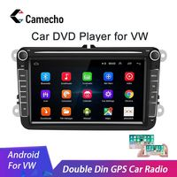 Camecho Car Android 8.1 2 Din radio GPS Multimedia For Volkswagen Skoda Octavia golf 5 6 touran passat B6 polo tiguan jetta yeti