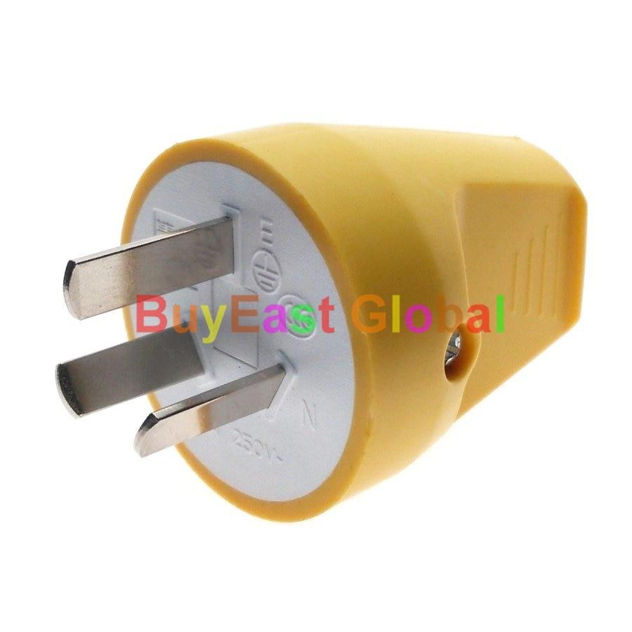 (1 PC) Australien, chine, nouvelle-Zélande (type I) 3 Broches Mâle de Modifier le câblage AC100 ~ 250 V 10A Entrée Arrière