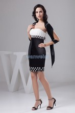 free shipping 2014 new beading short formal gown plus size nightclub dresses custom size/color special occasion sexy Prom Dress
