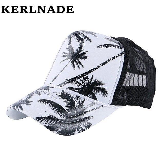 Desain keren jala gaya baru wanita pria musim panas topi cetak pola kustom  desain bersih gadis f096b4b760