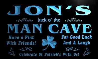 x0157-tm Jons Man Cave Irish Pub Bar Custom Personalized Name Neon Sign Wholesale Dropshipping On/Off Switch 7 Colors DHL