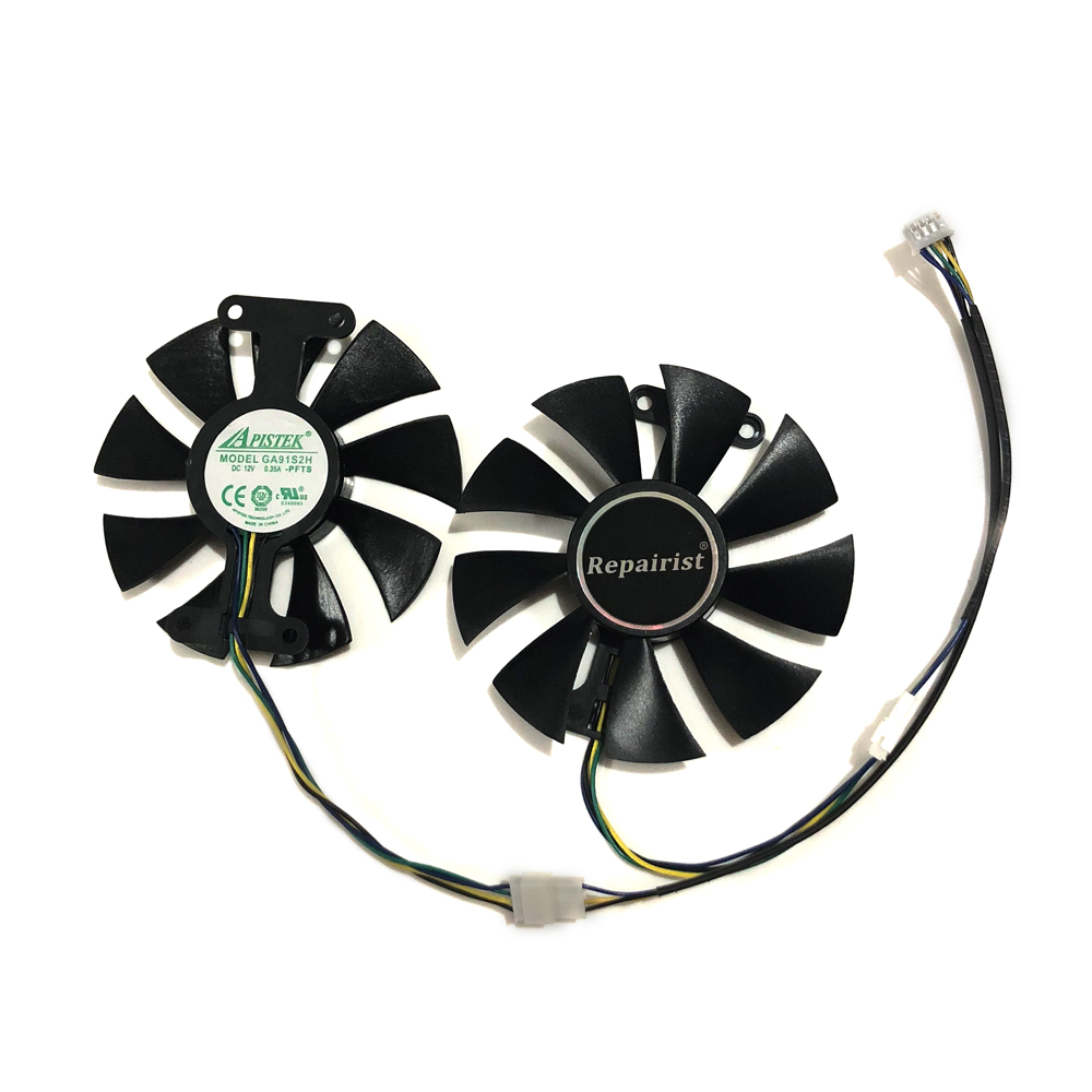 PowerColor Red Devil RX470 RX480 RX580 GPU Cooler Cooling Fan For Radeon Red Dragon AX <font><b>RX</b></font> 480 470 <font><b>580</b></font> Video Cards As Replacement image
