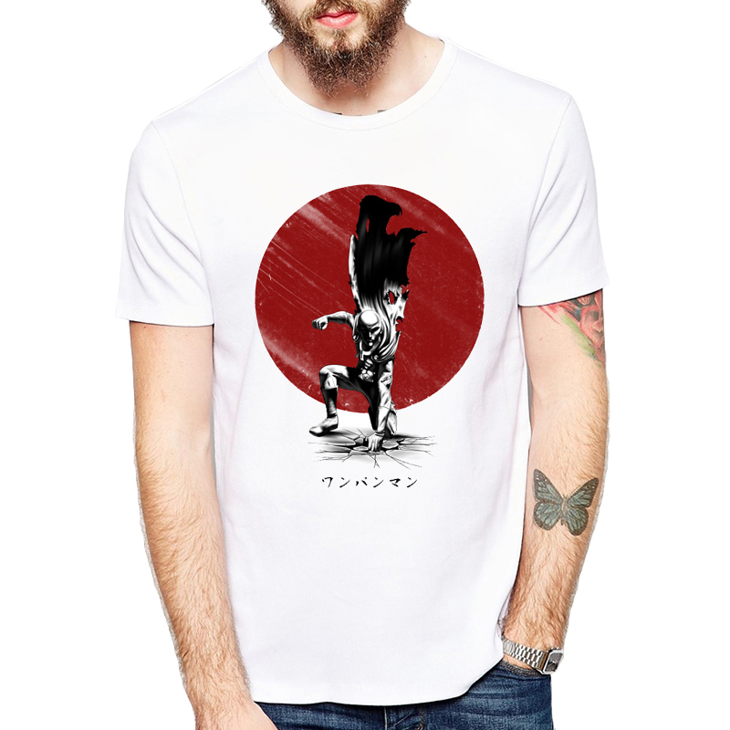 One Punch Man Printed men   T     shirt   Fashion cool Anime confortable men's Lethal Punch Tshirt casual   t  -  shirt   for men
