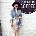 Europa Rua bater para cor da queda de impressão novos lenços de algodão xales de Moda feminina super grande quente