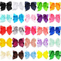 25PCS 8 inch Big Large Hair Bows Alligator Clips Grosgrain Ribbon Hairgrip Bowknot Boutique Childrens Girls Hair Accessories