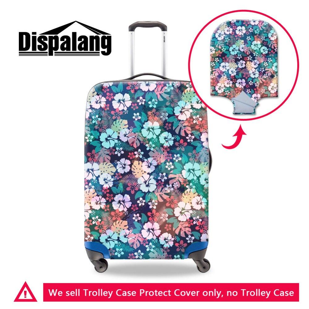 Dispalang Чемодан защитный Чехлы для мангала Цветочный принт отлично эластичной чемодан Чехлы для мангала относятся к 18-30 дюймов случае Туристи...