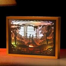 Paper Cut Light Box 3D Shadow Box Led Night Light Photo Picture Frame