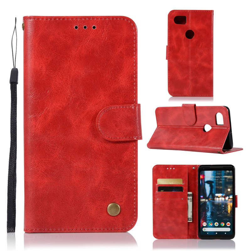 For Google Pixel2 XL Case Retro Style PU Leather Flip Wallet Capa...